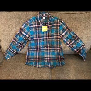 GYMBOREE Boys Flannel button-up Size L (10-12) NWT